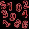 Números Plástico